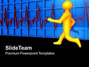 Running Man With Heart Beat Medical PowerPoint Templates PPT Themes An