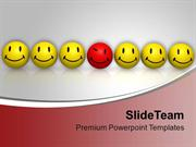 Smiley Emoticons BeDifferent Concept PowerPoint Templates PPT Themes A
