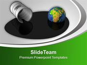 Spilled Oil And Earth Globe PowerPoint Templates PPT Themes And Graphi