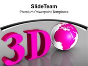3d Globe Business Concept PowerPoint Templates PPT Themes And Graphics