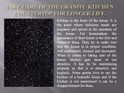 Take Care of the Granite Kitchen Countertop for Longer Life