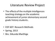 Literature Review Project ppt