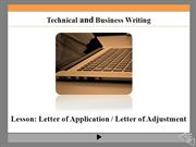 Letter of Application_Letter of Adjustment