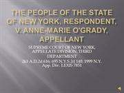 People of the State of NY, Respondent, v. anneMarie O'Grady,Appelant