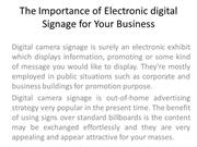 The Importance of Electronic digital Signage for Your