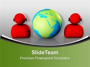 Customer Service Support Global Communications PowerPoint Templates PP