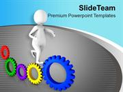 Gear Mechanism Business Development PowerPoint Templates PPT Themes An