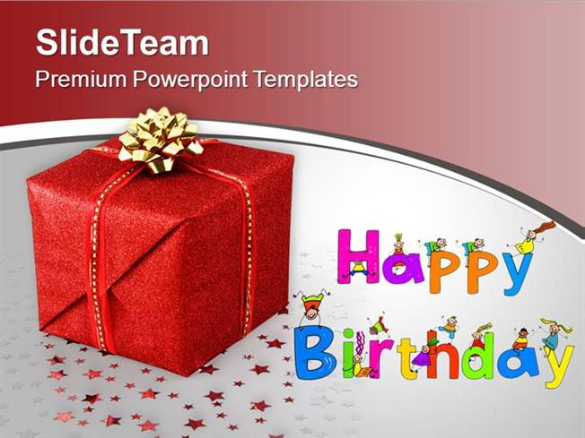 happy birthday gift celebration powerpoint templates ppt themes an, Powerpoint templates