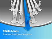 Men Running To Achieve Goal Leadership Concept PowerPoint Templates PP