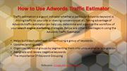 How to Use Adwords Traffic Estimator