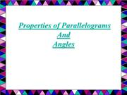 properties of parallelogram and its area