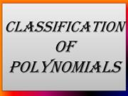 TYPES OF POLYNOMIAL