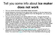 ice maker does not work