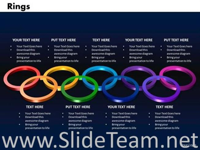 olympic rings style ppt image powerpoint diagram