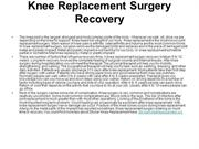 Knee Replacement Surgery Recovery