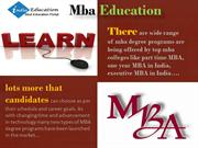 One Year, Executive, Part Time MBA Choose Your Type Of MBA