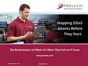 The Broad Impact od DDoS It's More than IT Issue