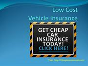 Low cost vehicle insurance
