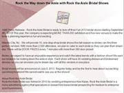 Rock the Way down the Aisle with Rock the Aisle Bridal Shows