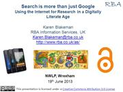 Search is more than just Google