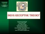 Drug receptor theories by siva