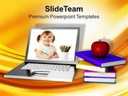Online Education Learning Internet PowerPoint Templates PPT Themes And