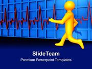 Running Man With Heartbeat Medical PowerPoint Templates PPT Themes And