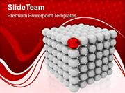 Sphere Cubes Leadership Concept PowerPoint Templates PPT Themes And Gr