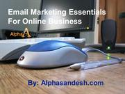 Email Marketing Essentials For Online Business