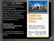 Fort Pierce FL Hotel - Quality Inn Fort Pierce FL