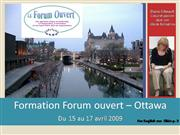 Formation Forum ouvert Ottawa_Album phot