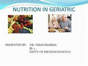 NUTRITION IN GERIATRICS