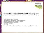 RFID retail membership card