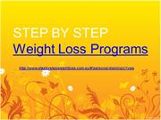 STEP BY STEP Weight Loss Programs | Weight Loss