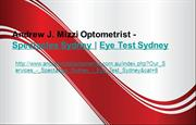 Andrew J. Mizzi Optometrist - Spectacles Sydney | Eye Test Sydney