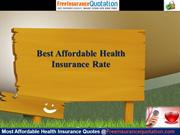 Best Affordable Health Insurance Rate