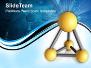 4 Atoms Attached To Form A Molecule PowerPoint Templates PPT Themes An