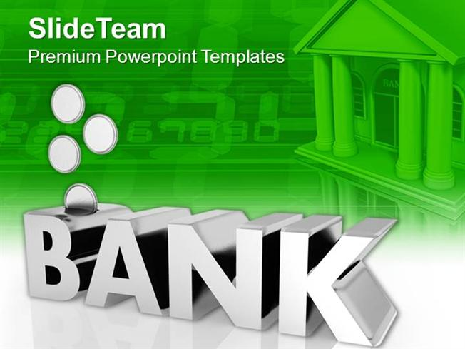 bank management factors with coins powerpoint templates ppt themes, Powerpoint templates
