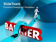 Barrier To Be Crossed To Achieve Goal PowerPoint Templates PPT Themes