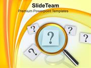 Finding Answer To Question Magnifying PowerPoint Templates PPT Themes