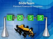 Loss Incurred In Business Lead To Failure PowerPoint Templates PPT The