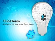 Missing Puzzle To Complete The Solution PowerPoint Templates PPT Theme