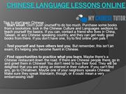 Chinese Language Lessons Online