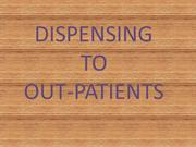 dispensing to ambulatory/out -patients
