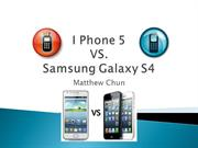 PowerPoint I Phone VS Galaxy S4