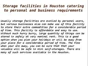 Storage facilities in Houston catering to personal and business requir
