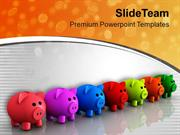 3d Illustration Of Piggy Money Bank PowerPoint Templates PPT Themes An