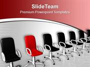 Chairs Individuality Concept PowerPoint Templates PPT Themes And Graph