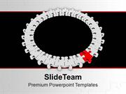 Circular Jigsaw Puzzle Innovation Concept PowerPoint Templates PPT The