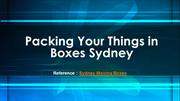 Sydney moving boxes | Packing Your Things in Boxes Sydney